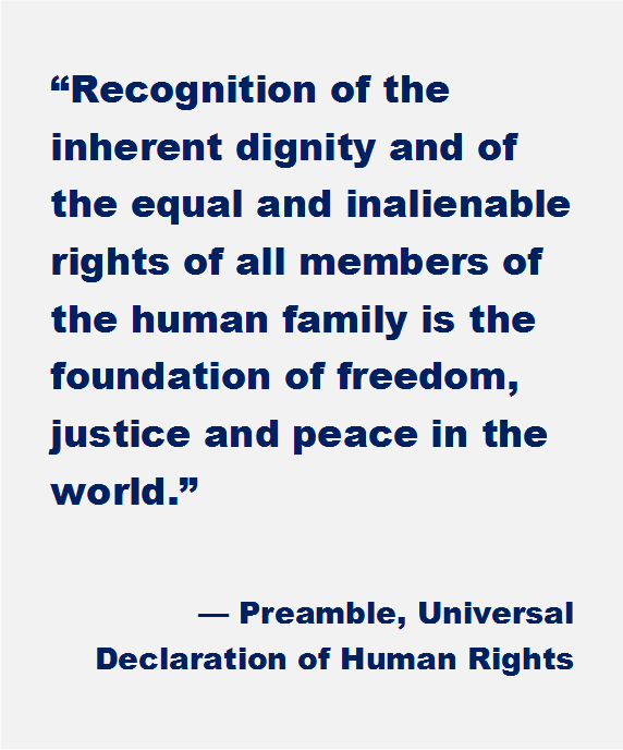 Preamble Declaration of Human Rights