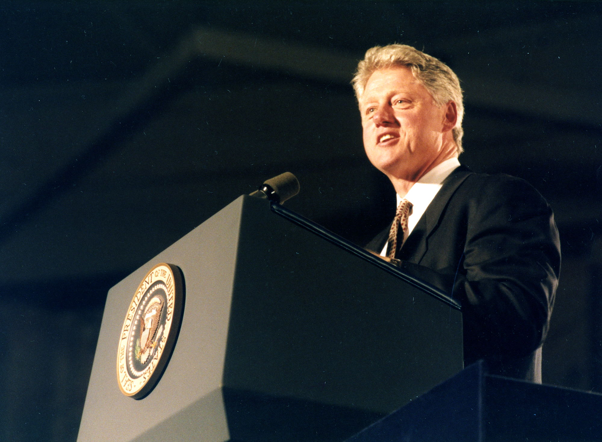 President Clinton at Podium