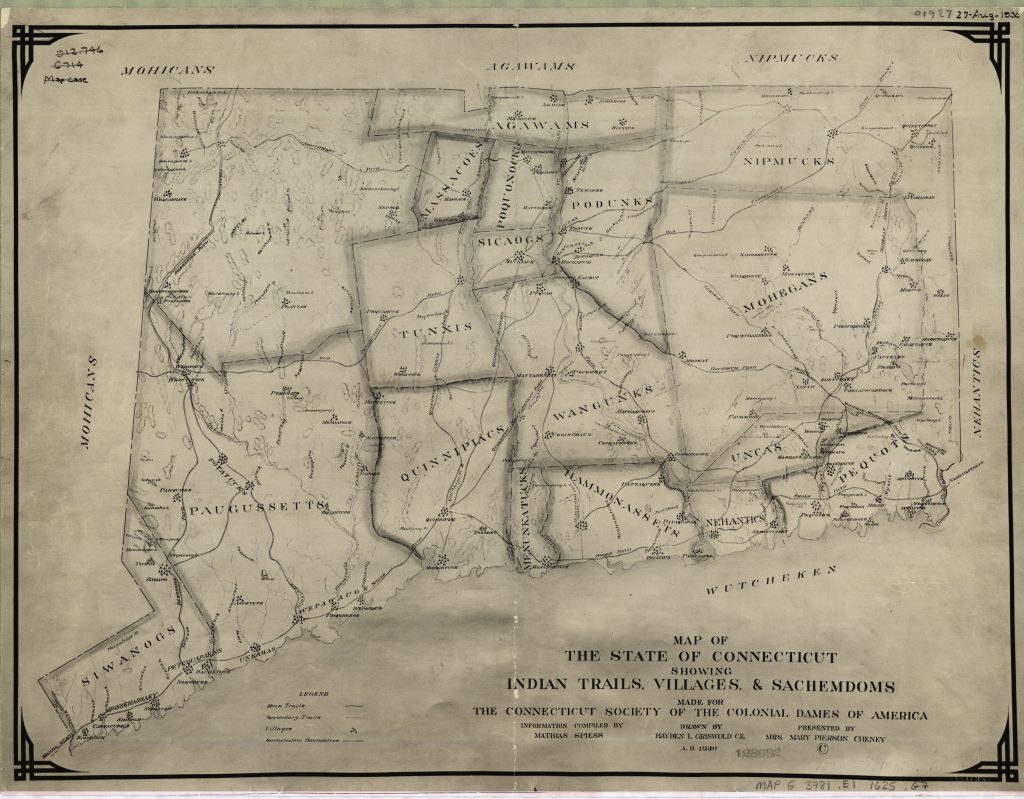 1625 Map of Connecticut