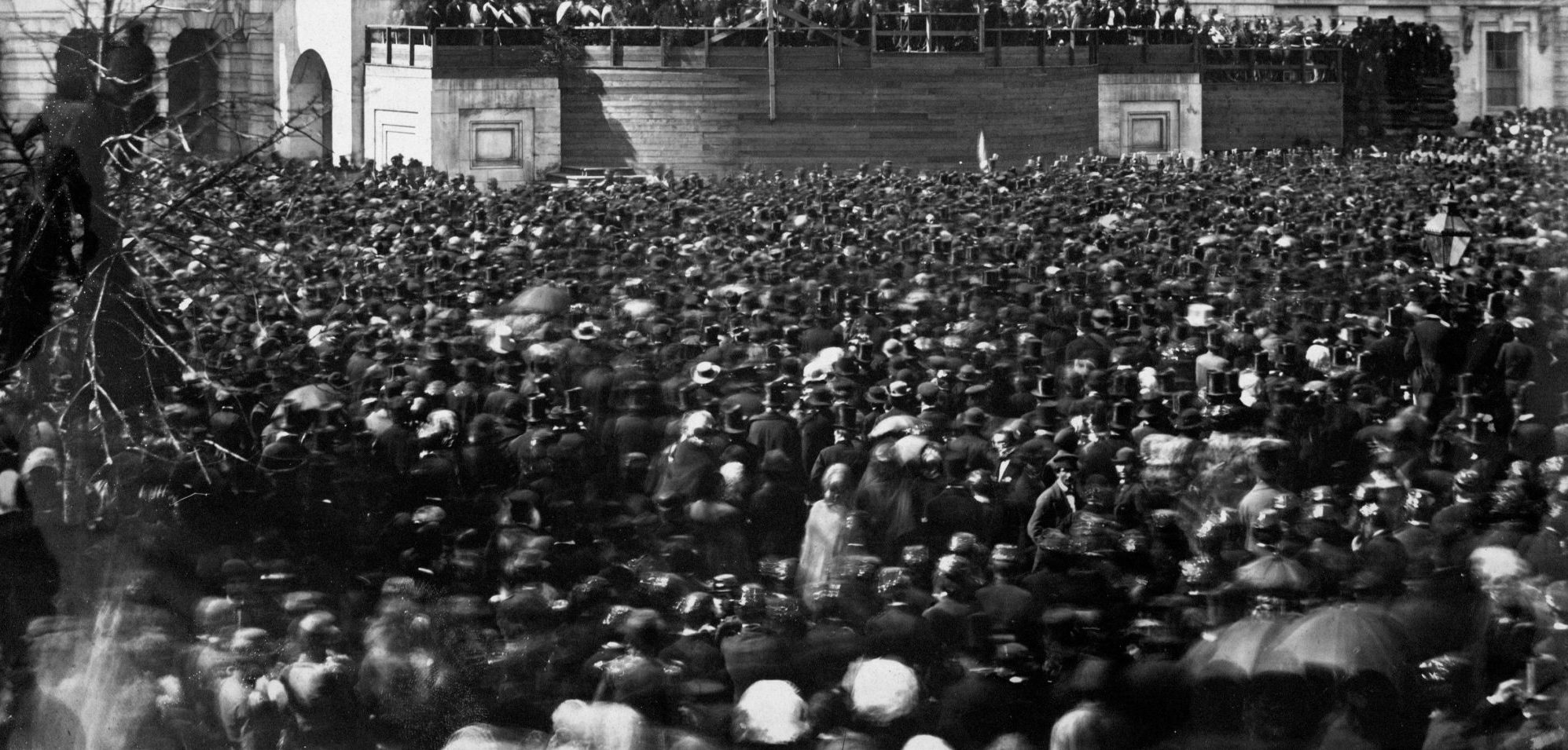 Crowd at Lincoln's First Inauguration
