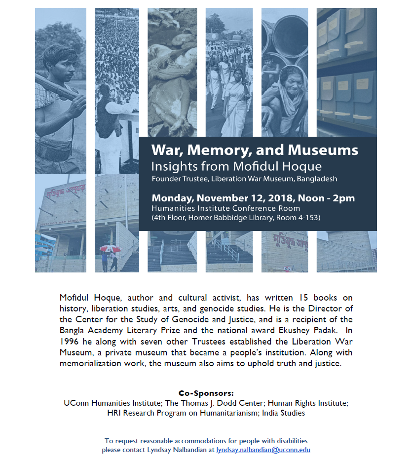 War, Memory and Museums Flyer