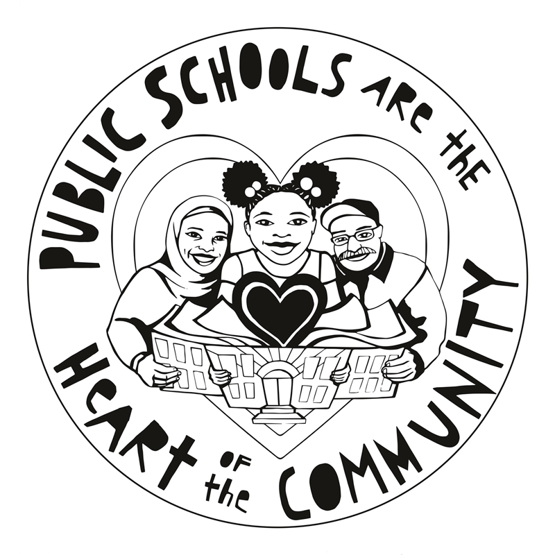 Public Schools are the Heart of the Community Badge
