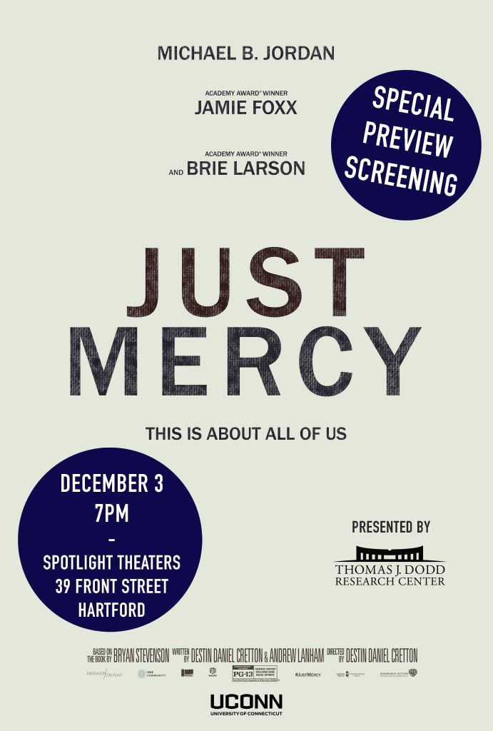 Just Mercy Film Poster DODD CENTER